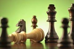 Strategisches Spiel des Schachs Lizenzfreie Stockbilder