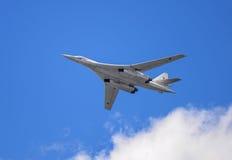 Strategisk bombplanTupolev Tu-160 Royaltyfri Foto