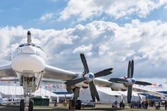 Strategisk fyra-motor Tu-95 bombplan Arkivbilder