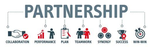 Strategisk partnerskapbegreppsillustration vektor illustrationer