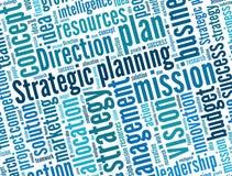 Strategisk planläggning Arkivbild