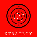 Strategy. Having a sound strategy regarding career, business and life Stock Photo