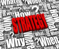 Strategy. Group of strategy related 3D words. Part of a series Royalty Free Stock Photo