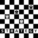 Strategy. Strategic thinking in life and business (chess abstract with kings and queens Stock Photography