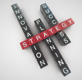 Strategy. Innovation planning success concept crossword Royalty Free Stock Image