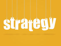 Strategy. Hanging text with the concept Strategy Royalty Free Stock Photos