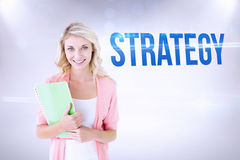 Strategy against grey background Stock Photos