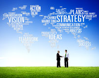 Strategy Analysis World Vision Mission Planning Concept Royalty Free Stock Image