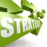 Strategy arrow in green Royalty Free Stock Image