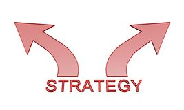 Strategy arrow icon Stock Image