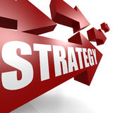 Strategy arrow in red Stock Photo