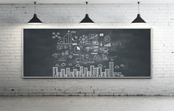 Strategy on blackboard Royalty Free Stock Photos