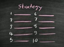 Strategy on blackboard royalty free stock photo