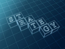 Strategy blueprint Royalty Free Stock Image