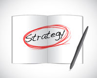 Strategy book sign illustration design Royalty Free Stock Images