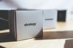 Strategy box Royalty Free Stock Photography