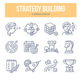 Strategy Building Doodle Icons Royalty Free Stock Photo