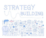Strategy Building. Vector Illustration Stock Photos
