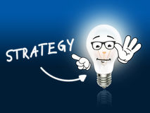 Strategy Bulb Lamp Energy Light blue Stock Photos