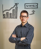 Strategy business concept. With diagram Stock Photos