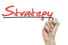 Strategy business concept Royalty Free Stock Image