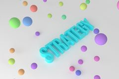 Strategy, business conceptual colorful 3D rendered words. Alphabet, caption, communication & illustration. Strategy, business conceptual colorful 3D rendered royalty free illustration