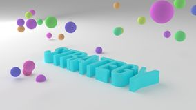 Strategy, business conceptual colorful 3D rendered words. Creativity, positive, alphabet & artwork. Strategy, business conceptual colorful 3D rendered words royalty free illustration