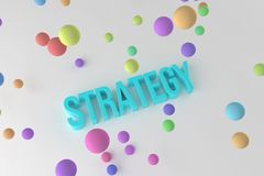Strategy, business conceptual colorful 3D rendered words. Style, alphabet, graphic & text. Strategy, business conceptual colorful 3D rendered words. Good for stock illustration