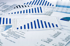 Strategy in business and finance. Charts stock photography