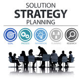 Strategy Business Goals Solution Success Concept Royalty Free Stock Photography