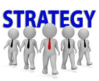 Strategy Businessmen Means Plan Tactic And Innovation 3d Rendering Royalty Free Stock Images
