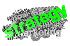 Strategy, buzzword, infographic Royalty Free Stock Photos