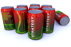 Strategy cans vector illustration
