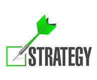strategy check dart illustration design Royalty Free Stock Images