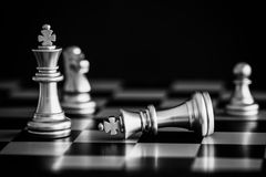 Strategy chess battle Intelligence challenge game on chessboard. Success the strategy concept. Chess business leader and success idea. Chess strategy game Royalty Free Stock Photo