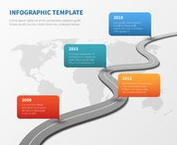 Strategy chronological road map. Business vector timeline. Roadmap strategy, process and structure organization illustration Royalty Free Stock Photo