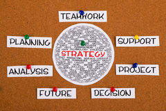 Strategy circled diagram Royalty Free Stock Photos