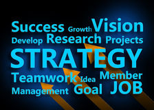 Strategy concept Royalty Free Stock Photos