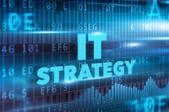 IT strategy concept. Blue background blue text Royalty Free Stock Photos
