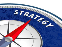 Strategy concept with compass, Business strategy infographics Stock Images