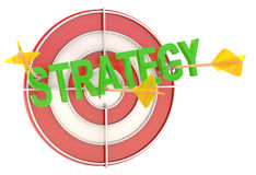 Strategy concept. Dartboard with arrows Royalty Free Stock Photos
