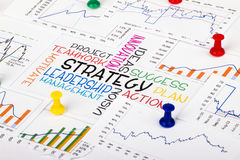 Strategy concept with financial graph Royalty Free Stock Images