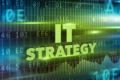 IT strategy concept. Green background green text Royalty Free Stock Photos