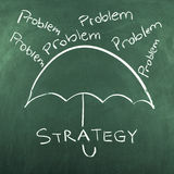 Strategy. Concept on green blackboard Royalty Free Stock Photography