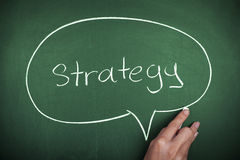 Strategy. Concept on green blackboard Royalty Free Stock Photo