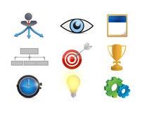 Strategy concept icon set illustration Royalty Free Stock Photos