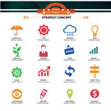 Strategy Concept icons, Royalty Free Stock Photos