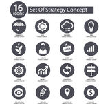 Strategy Concept icons,. Gray version Stock Images