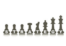 Strategy concept, illustration Royalty Free Stock Photo