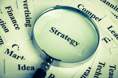Strategy concept Stock Image